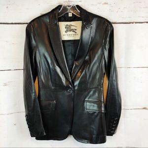 Burberry   100% Leather Blazer, Size 4